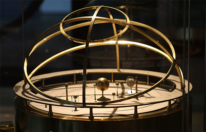 Benjamin Martin's orrery from 1767. Photo by Sage Ross CC-BY-SA-3.0